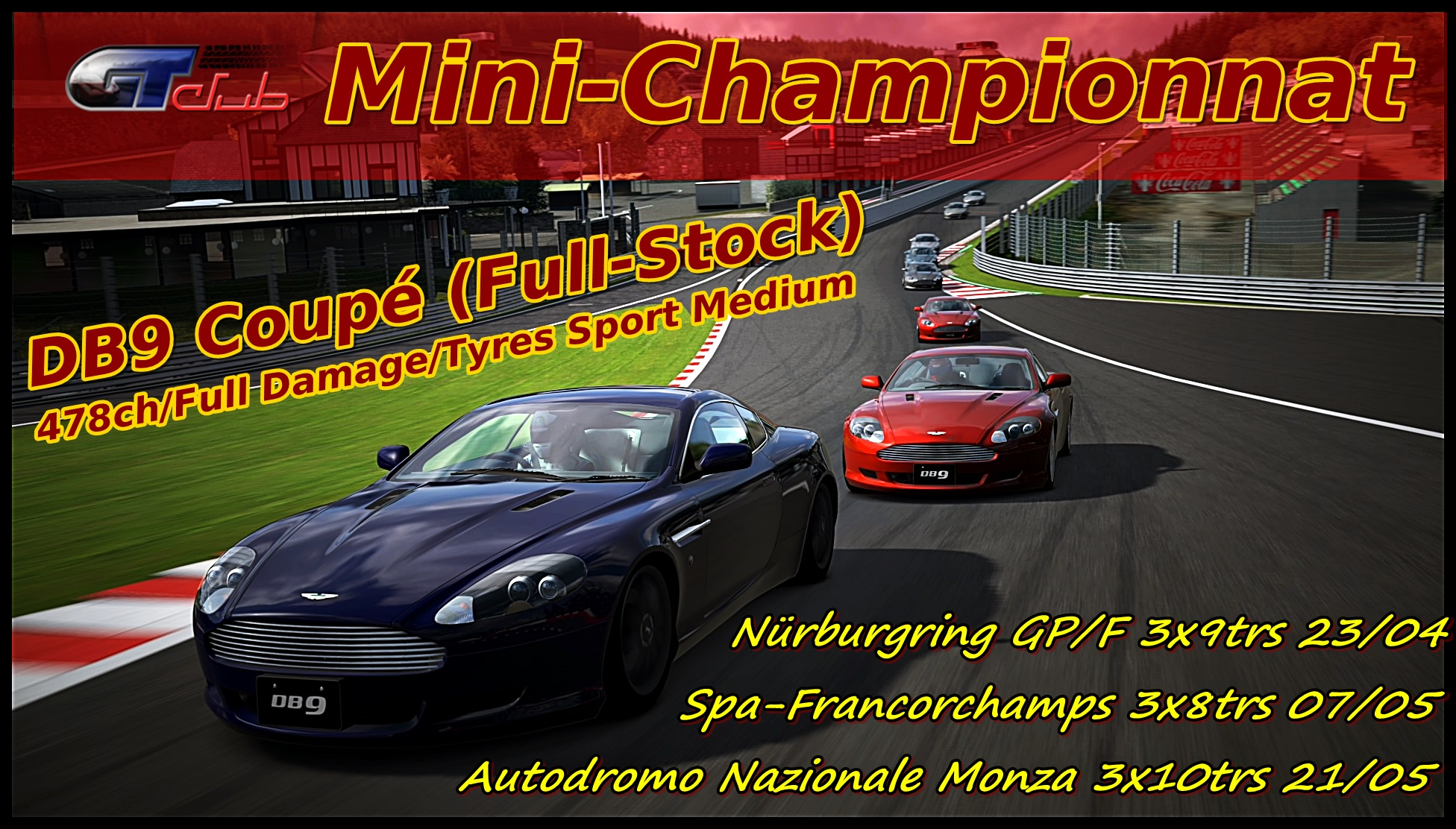 GT-club Mini Championnat DB9 2013